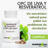 OPC de uva y resveratrol