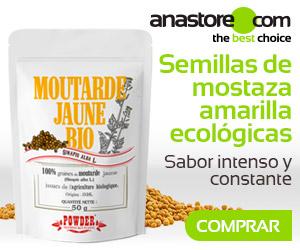 Semillas de mostaza amarilla ecológicas
