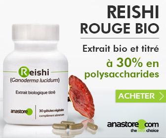 Reishi Rouge Bio (<em>Ganoderma lucidum</em>)